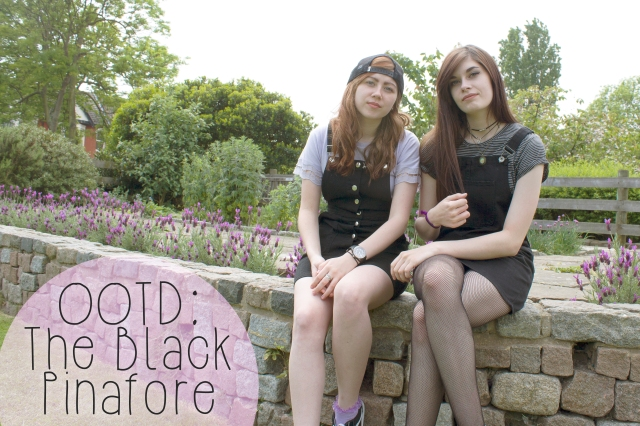 black pinafore