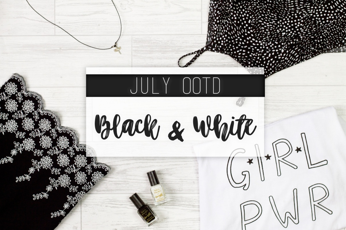 July OOTD | Black & White
