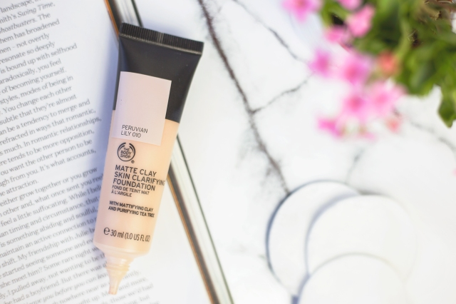 the body shop matte clay foundation 3