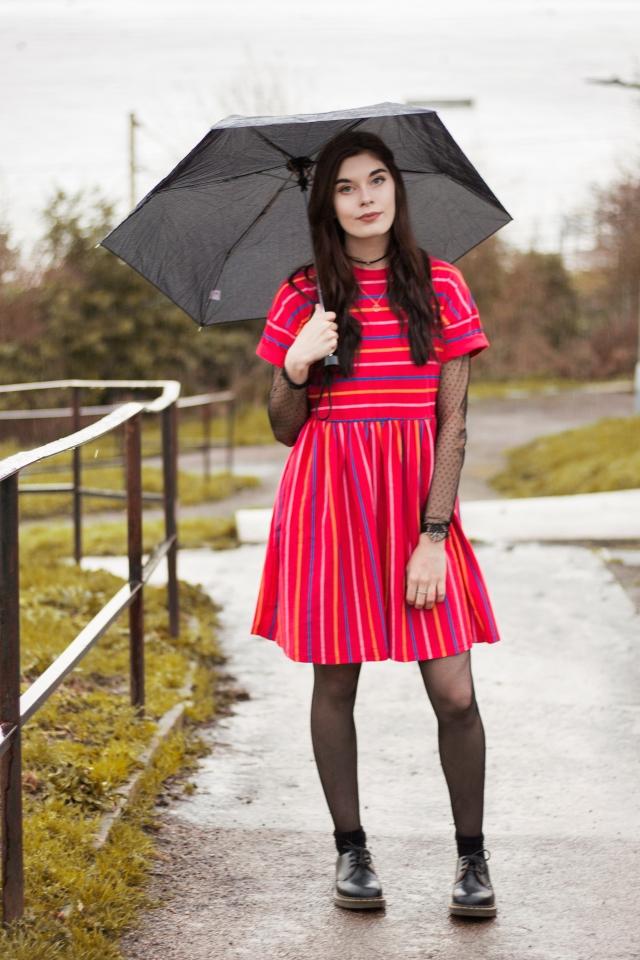 pink smock dress 1