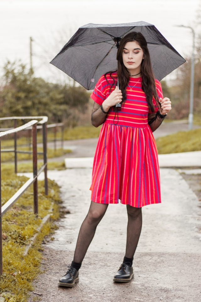 pink smock dress 2